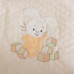 Одеяло-плед для детской кроватки Зайка с кубиками 70×115