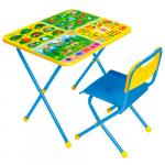 Комплект детской мебели Познайка Хочу всё знать (стол+пластмассовый стул) Артикул: КП/7
