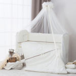 Балдахин на детскую кроватку Perina Le petit bebe ПБ1/1-01.5 цвет: молочно-кофейный