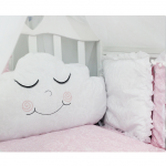Комплект в кроватку с игрушками ByTwinz Звездочка, 5 предметов цвет: розовый