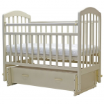 Кроватка-маятник с ящиком Топотушки Лира-7 цвет: слоновая кость
