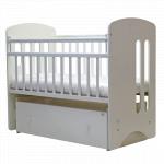 Кроватка-маятник Топотушки Каролина (72) цвет: белый