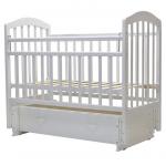Кроватка-маятник с ящиком Топотушки Лира-7 цвет: белый