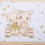Бортик защитный в кроватку Друзья 10107 цвет: розовый