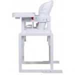Стульчик для кормления Globex Мишутка, регулируемая спинка, цвет: белый