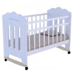 Кроватка-качалка ВДК Bonne цвет: белый