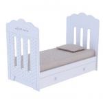 Кроватка ВДК Bonne маятник+ящик цвет: белый