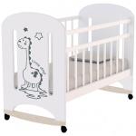Кроватка-качалка ВДК Dino цвет: белый