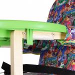 Стульчик для кормления Вилт Джунгли, пластиковая столешница цвет: лайм