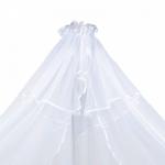 Балдахин в кроватку Alis микросетка, 4м цвет: белый