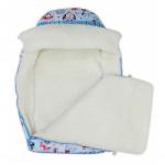 Конверт зимний меховой BabyGlory Snowball цвет: голубой