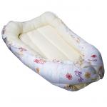 Кокон-гнездышко для новорожденных Каляка-Маляка цвет: белый/рисунки