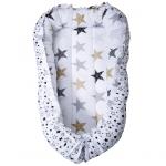 Кокон-гнездышко для новорожденных Звездопад цвет: белый/звезды