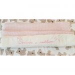 Комплект на выписку Сделано с любовью цвет: розовый