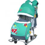Санки-коляска Ника-Детям НД7-2 цвет: изумрудный/лисичка