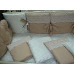 Комплект в кроватку Топотушки Облака, 6 предметов, 680/1 цвет: коричневый