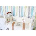 Комплект в кроватку Топотушки Зайка Акварель, 6 предметов, 674, цвет: бежевый
