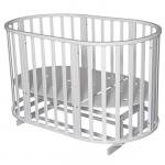 Фото: Круглая кроватка с маятником 6 в 1 Антел Северянка-3 цвет: белый