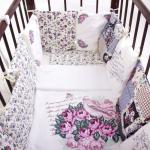 Комплект в кроватку Эдельвейс, 6 предметов, 10010, цвет: розовый