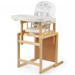 Стульчик для кормления Globex Мишутка пластиковый стол цвет: белый