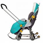 Санки-коляска Ника-Детям НД7-2 цвет: котенок/изумрудный