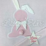 Плед двойная вязка Зайка Ангел Straz, 90х90, 0421, цвет: розовый