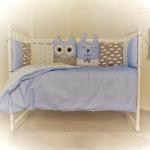 Комплект в кроватку Евротек, Лесные жители, 7 предметов, 35332 цвет: голубой