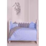 Комплект в кроватку Евротек, Сказка, 6 предметов, 30672 цвет: голубой