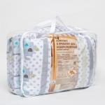 Комплект в кроватку Евротек, Слоники, 7 предметов, 38841 цвет: белый