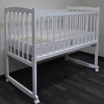 Кроватка-качалка Массив Беби-1 цвет: белый