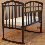 Кроватка-качалка Malika Melisa-2 цвет: шоколад