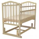 Кроватка-маятник поперечный Malika Melisa-4 цвет: слоновая кост