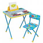 Комплект детской мебели стол+стул Nika Познайка: Большие гонки КП2/15