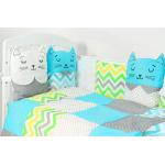 Комплект в кроватку Топотушки Китти, 6 предметов, 688/1 цвет: голубой