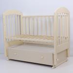 Кроватка-маятник с ящиком Топотушки Дарина-6 цвет: слоновая кость