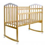 Кроватка-качалка Malika Melisa-2 Lux цвет: натуральный лак/белый