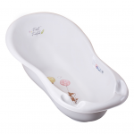 Ванночка для купания Tega Лесная сказка, 102 см, FF-005, цвет: белый