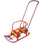 Санки Тимка-3К Универсал с толкателем Т3КУ цвет: красный