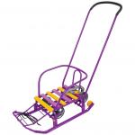 Санки Тимка-3К Универсал с толкателем Т3КУ цвет: сиреневый