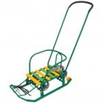 Санки Тимка-3К Универсал с толкателем Т3КУ цвет: зеленый