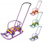Санки Тимка-3К Универсал с толкателем Т3КУ цвет: в ассортименте