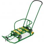Санки Тимка-5 Универсал с толкателем Т5У цвет: зеленый