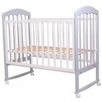 Кроватка-качалка Топотушки Сильвия-2 цвет: серый/белый