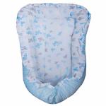 Многофункциональный матрасик Гнездышко 29911 цвет: голубой/бабочки