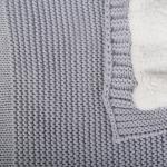 Плед вязаный Объемный на подкладке 23140 цвет: серый