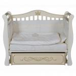 Кроватка-маятник универсальный+ящик Антел Julia-11 цвет: слоновая кость
