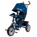 Велосипед трехколесный City-Ride с фарой (свет, звук), надувные колеса, CR-B3-05DBL цвет: синий