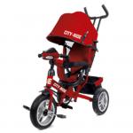 Велосипед трехколесный City-Ride с фарой (свет, звук), надувные колеса, CR-B3-05RD цвет: красный