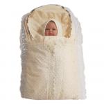 Комплект на выписку для новорожденного на молнии, мех, цвет: шампань
