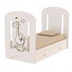 Кроватка ВДК Dino маятник+ящик цвет: слоновая кость